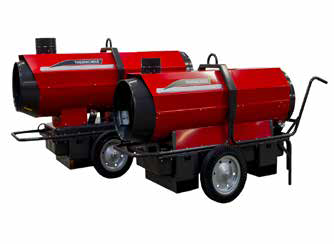 indirect oil fired heater rental